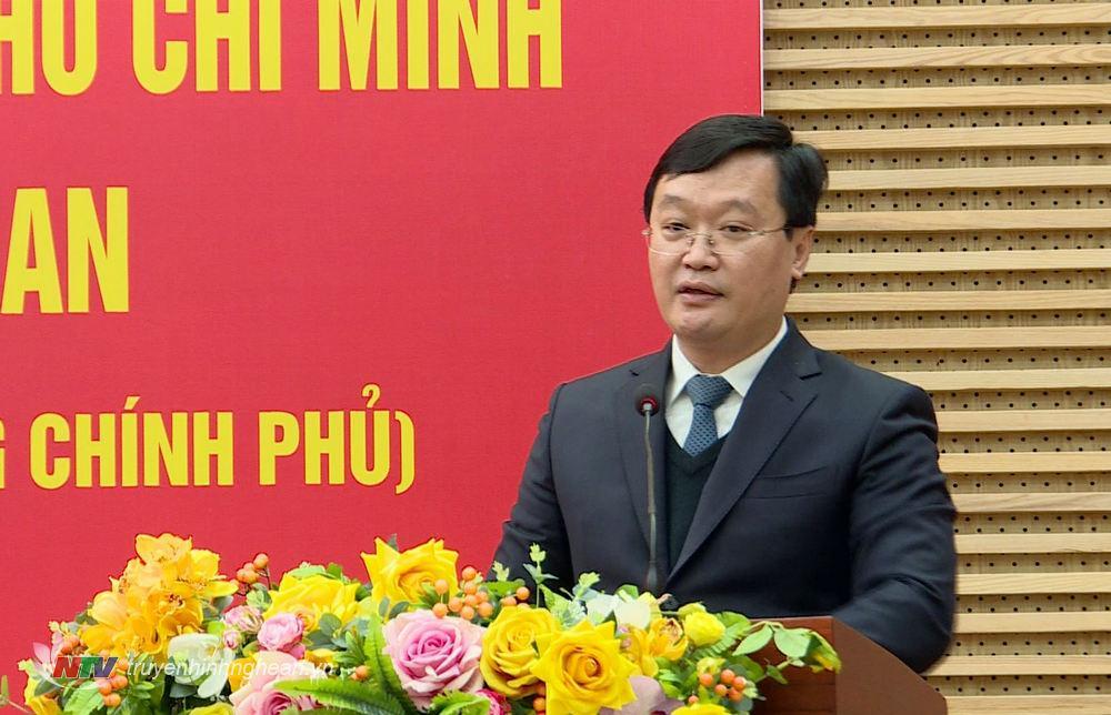 Chủ tịch UBND tỉnh Nguyễn Đức Trung phát biểu tại lễ công bố.