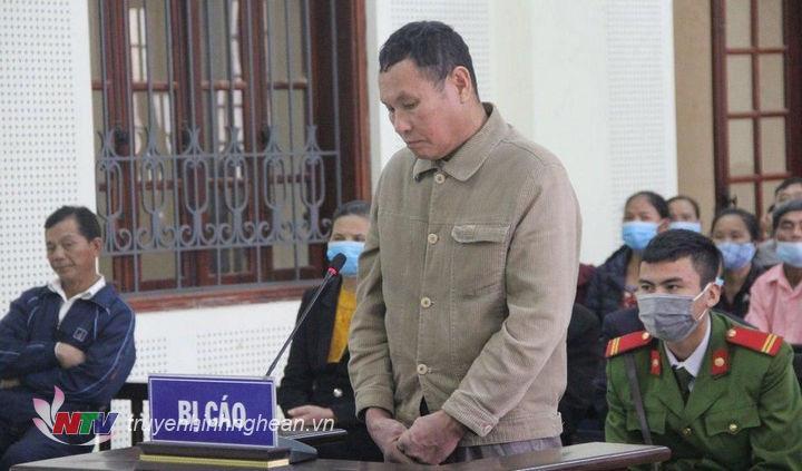 Bị cáo Ngô Đức Thiện tại phiên tòa