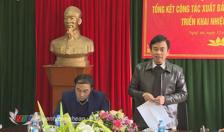 Phó Giám đốc Sở Thông tin - Truyền thông Nguyễn Bá Hảo phát biểu tại hội nghị.
