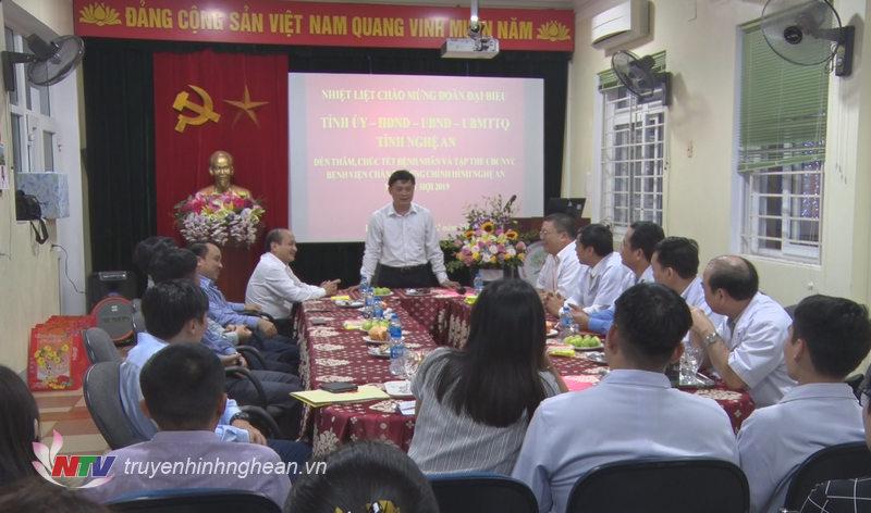 Chủ tịch UBND tỉnh Thái Thanh Quý chúc Tết tại Bệnh viện