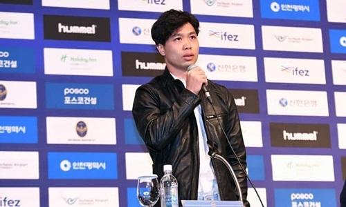 Công Phượng là cầu thủ Việt Nam thứ hai, sau Xuân Trường, khoác áo Incheon United.