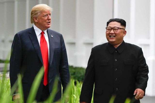 Tổng thống Mỹ Donald Trump và lãnh đạo Triều Tiên Kim Jong-un. Ảnh: internet