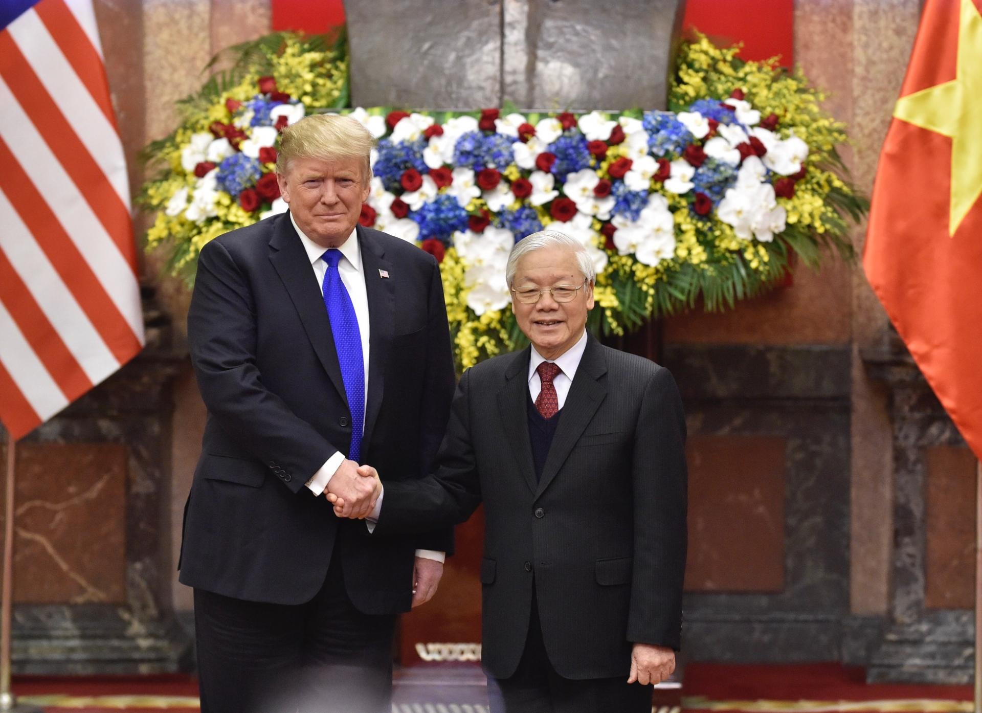 Tổng Bí thư, Chủ tịch nước Nguyễn Phú Trọng và Tổng thống Mỹ Donald Trump