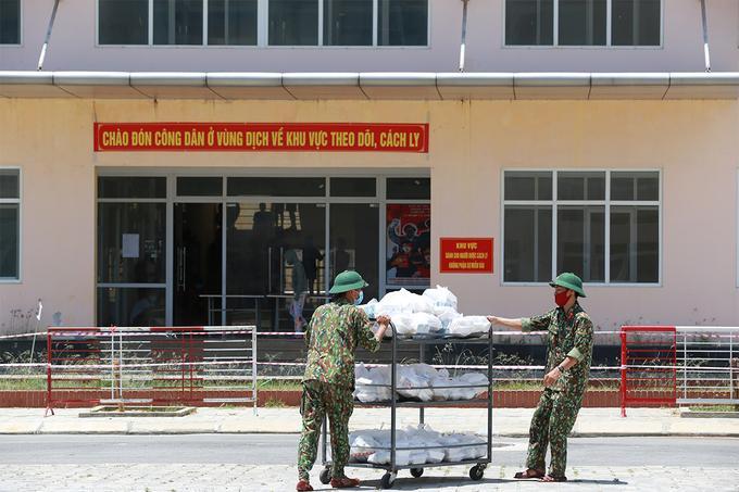 Khu cách ly T3 ở xã Phú Thượng do quân đội phụ trách.