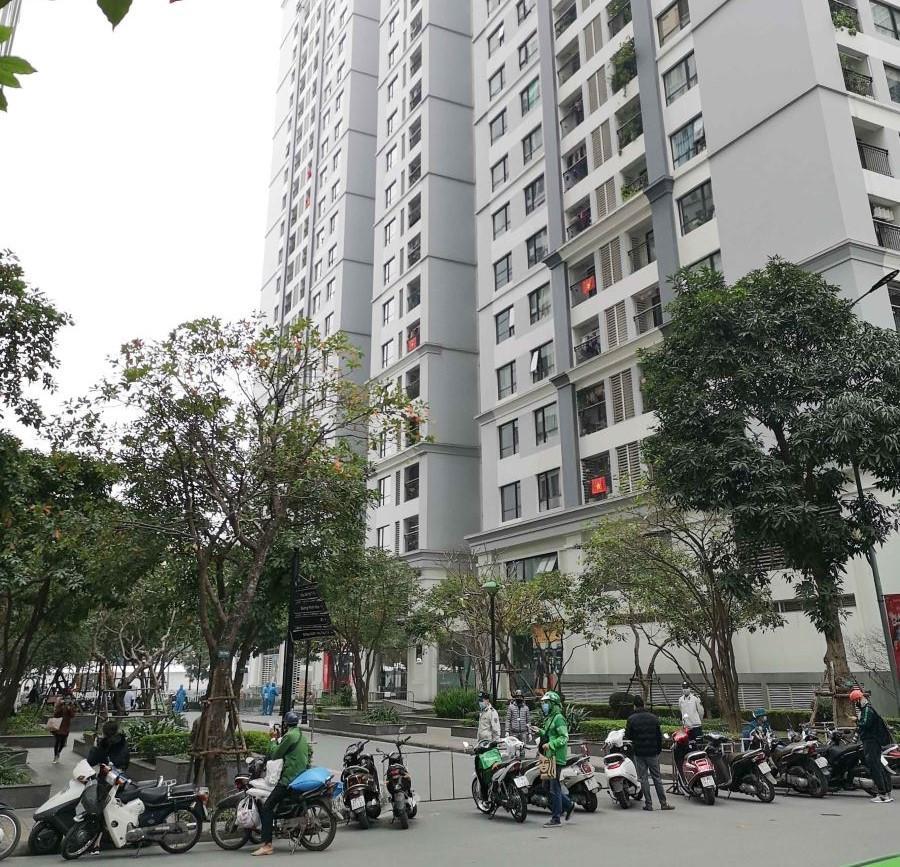 Phong tỏa Tòa nhà T6, khu đô thị Times City, quận Hai Bà Trưng
