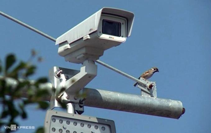 Camera được lắp đặt trên cao tốc Nội Bài - Lào Cai.