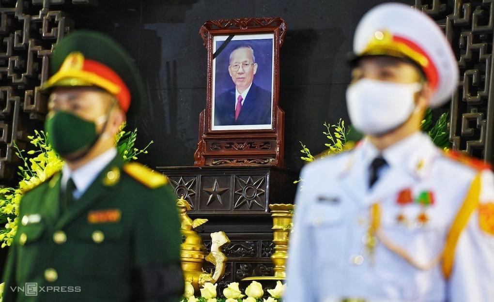 Tại Hà Nội, lễ viếng nguyên Phó thủ tướng Trương Vĩnh Trọng được tổ chức tại Nhà tang lễ Quốc gia, số 5 Trần Thánh Tông.