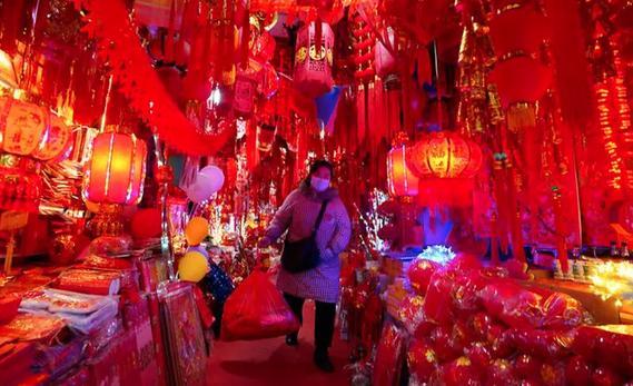 Một khu chợ tại Vũ Hán (Trung Quốc) (Nguồn: AP)