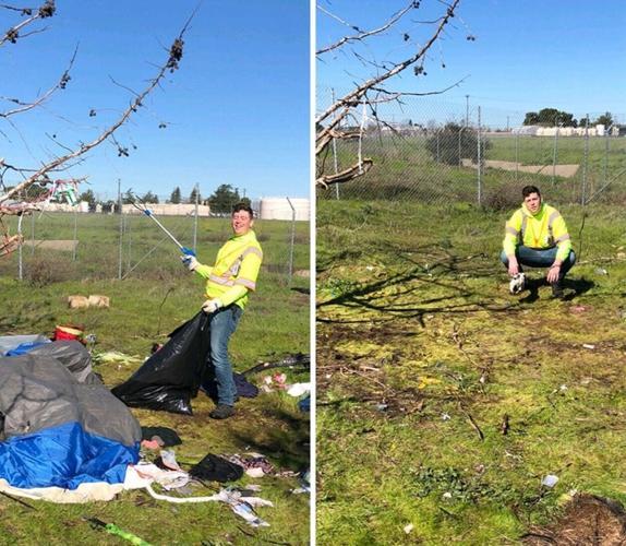 Dọn dẹp một khu trại vô gia cư: Chỉ mất 1 tiếng có thể dọn được 260kg rác.