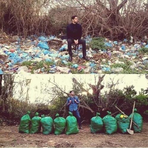 Trào lưu dọn rác bắt đầu được hưởng ứng khi Facebooker Byron Roman đăng tải bức ảnh này kèm theo #Trashtag kêu gọi bảo vệ môi trường. Bức ảnh này Byron Roman sau đó đạt hơn 329.000 lượt chia sẻ.