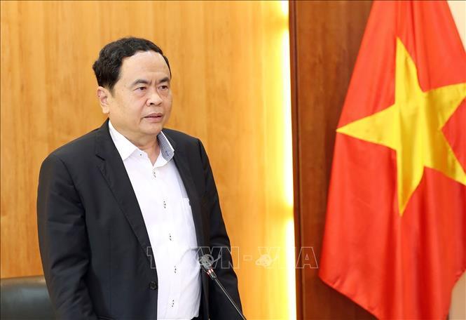 Chủ tịch Ủy ban Trung ương MTTQ Việt Nam Trần Thanh Mẫn phát biểu.