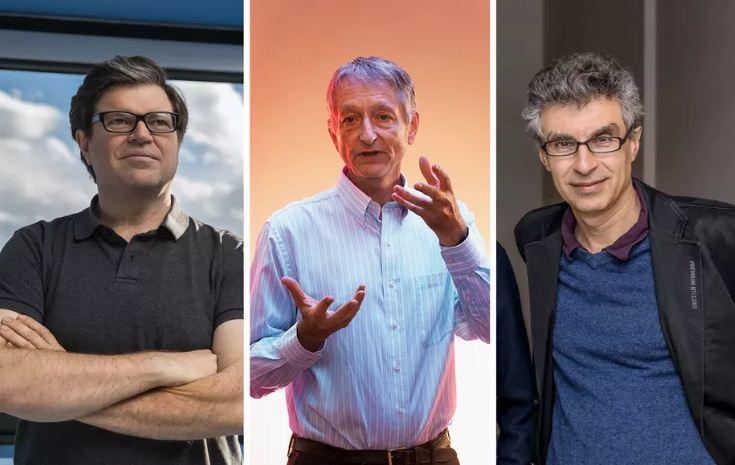   Ba nhà khoa học Yoshua Bengio, Geoffrey Hinton và Yann LeCun được mệnh danh là bố già AI.  