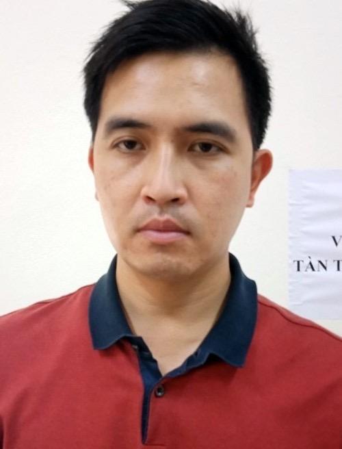 Nguyễn Trường Giang tại cơ quan điều tra. Ảnh: Cơ quan điều tra cung cấp
