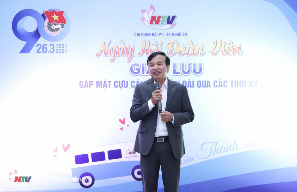 Đồng chí Nguyễn Như Khôi - Tỉnh ủy viên, Giám đốc Đài phát biểu chúc mừng.