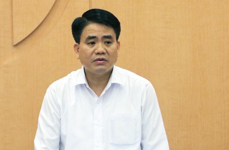 Ông Nguyễn Đức Chung khi còn giữ chức Chủ tịch UBND Hà Nội.