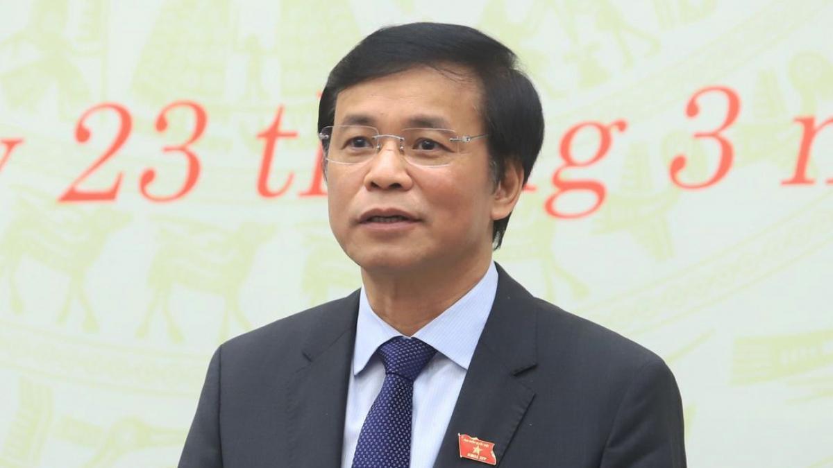 Tổng Thư ký Nguyễn Hạnh Phúc thông tin tới báo chí về công tác nhân sự tại Kỳ họp 11, Quốc hội khoá XIV.