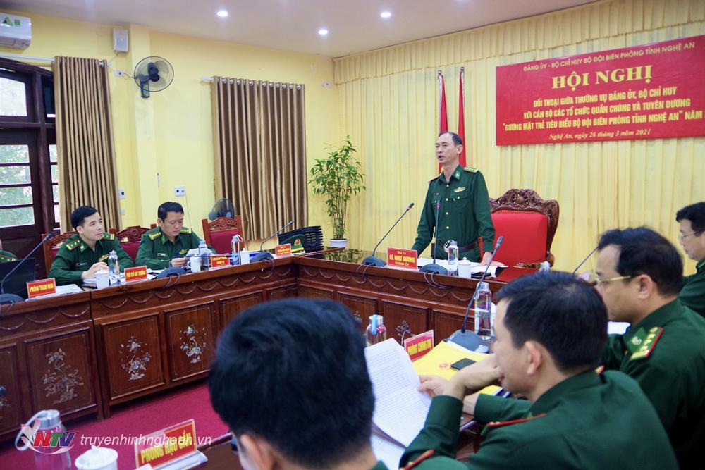 Đại tá Lê Như Cương,Bí thư Đảng ủy, Chính ủy BĐBP Nghệ An