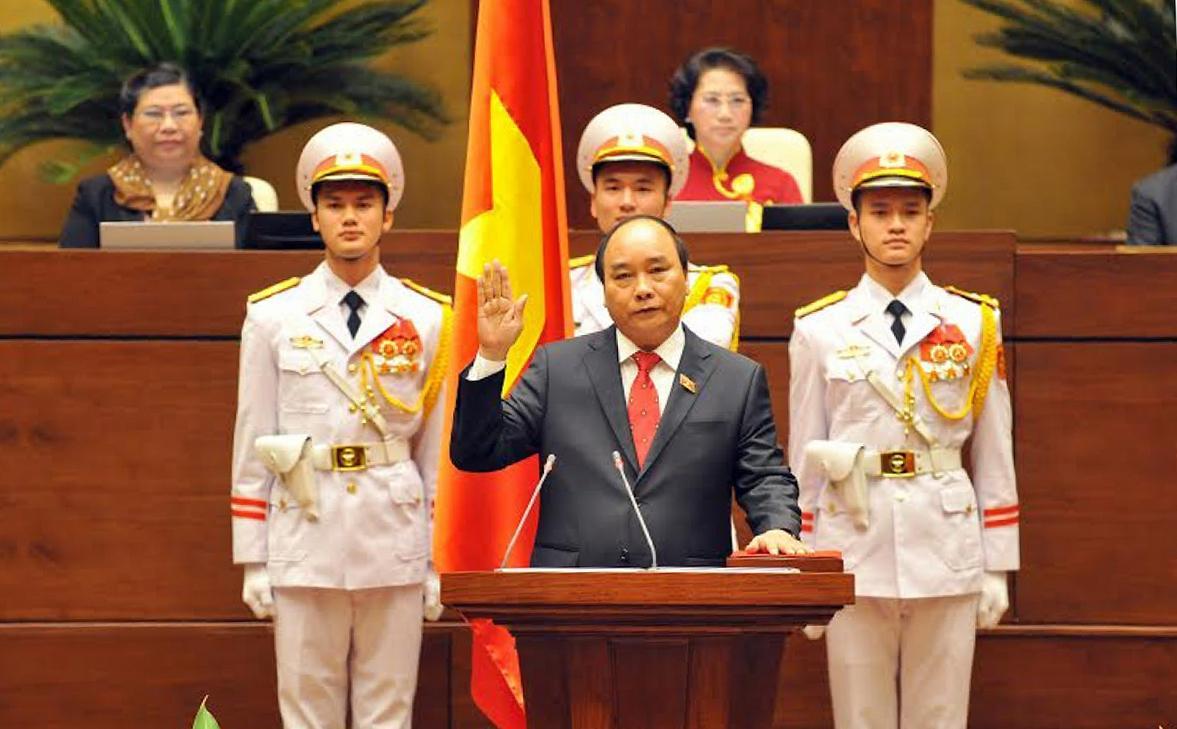 Ngày 7/4/2016, tại kỳ họp thứ 11, Quốc hội khóa XIII, Thủ tướng Nguyễn Xuân Phúc tuyên thệ nhậm chức.