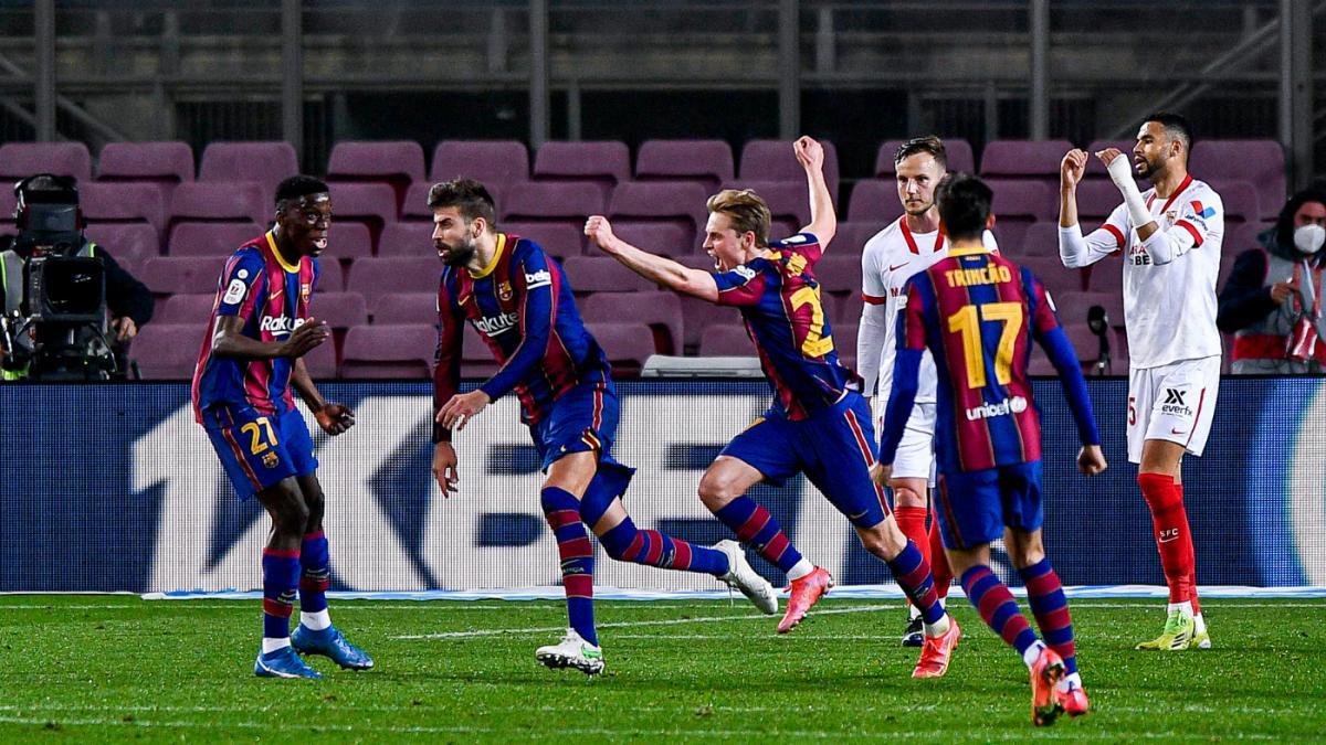 Barca đang là đội có thành tích tốt nhất La Liga tính từ đầu năm 2021. (Ảnh: Getty).