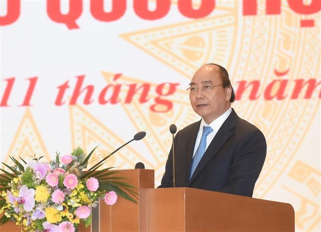 Thủ tướng Nguyễn Xuân Phúc được giới thiệu ứng cử Quốc hội ở khối Chủ tịch nước.