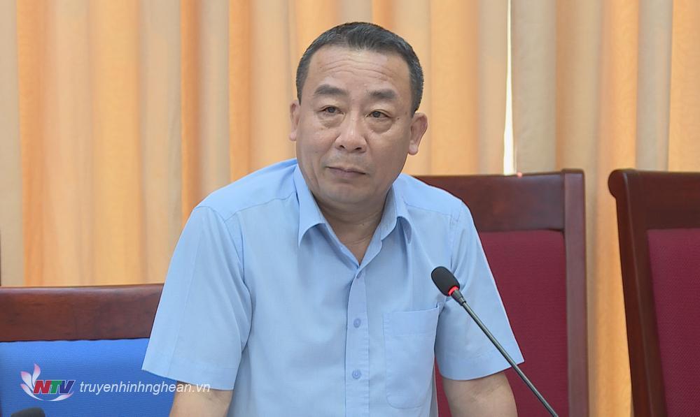 Giám đốc Sở NN&PTNT Nguyễn Văn Đệ phát biểu tại buổi làm việc.