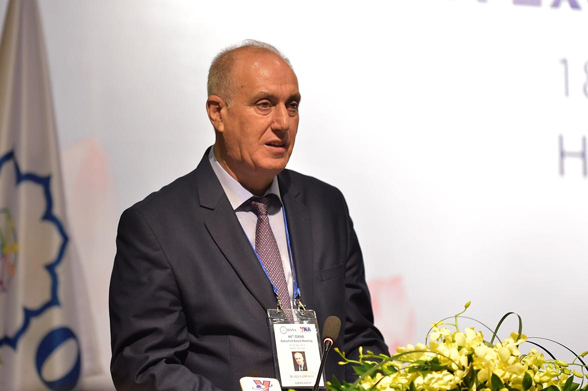 Chủ tịch OANA Aslan Aslanov: TTXVN một lần nữa đã khẳng định được vị trí, vai trò là một hãng truyền thông hàng đầu khu vực. Ảnh VGP/Nhật Bắc