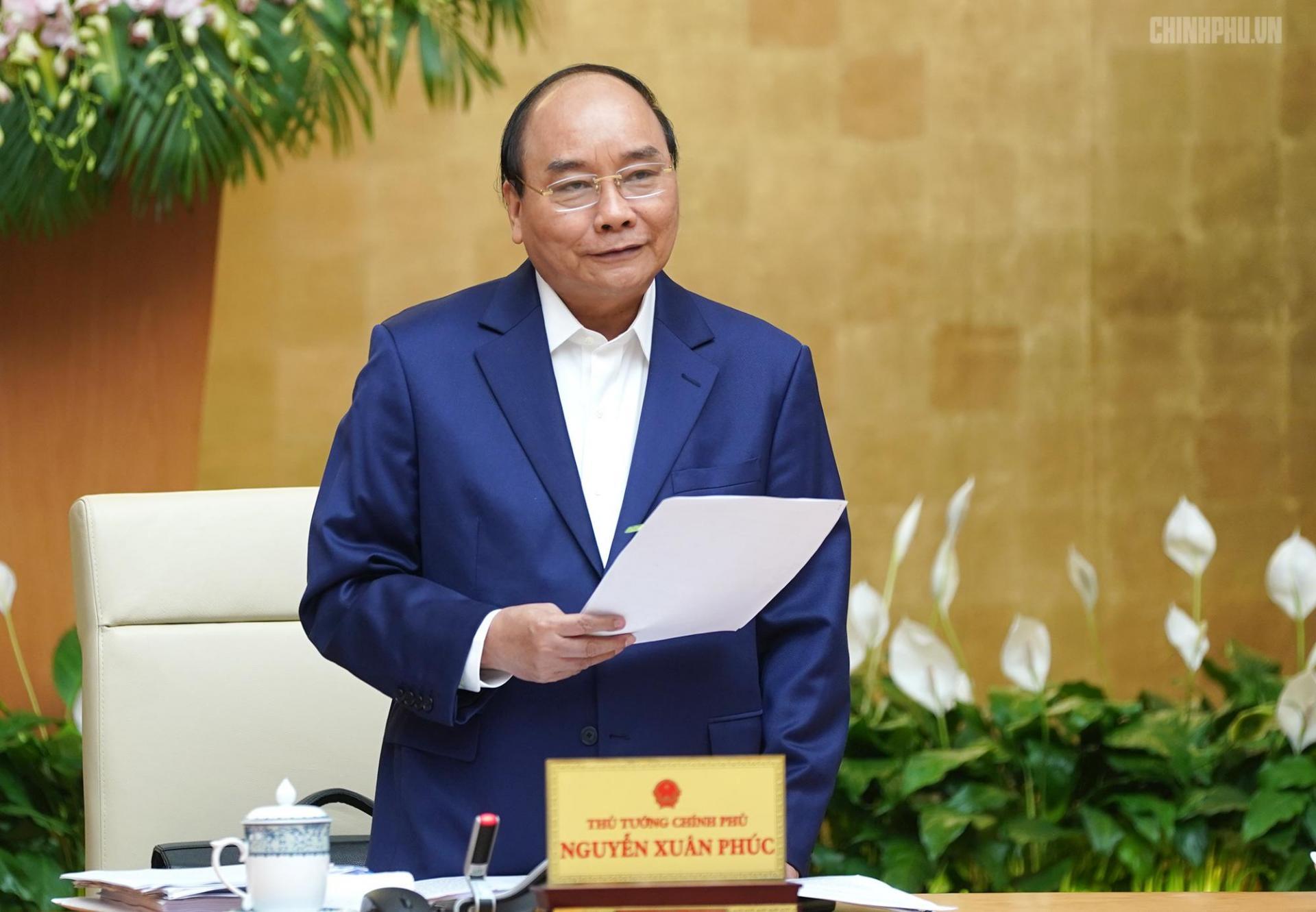 Thủ tướng Nguyễn Xuân Phúc phát biểu khai mạc phiên họp Chính phủ thường kỳ tháng 3/2019.