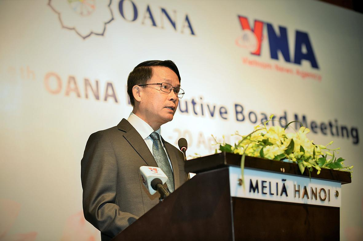 Tổng Giám đốc TTXVN Nguyễn Đức Lợi: Đổi mới và sáng tạo là điều mang tính sống còn đối với báo chí hiện đại.