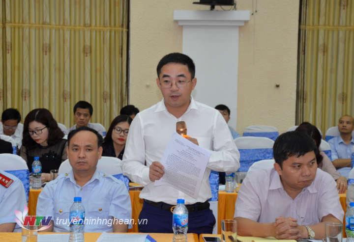 Ông Nguyễn Xuân Đức - Phó Giám đốc Sở Kế hoạch - Đầu tư trả lời
