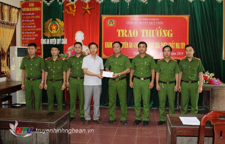 Trao thưởng cho Ban chuyên án 419MT