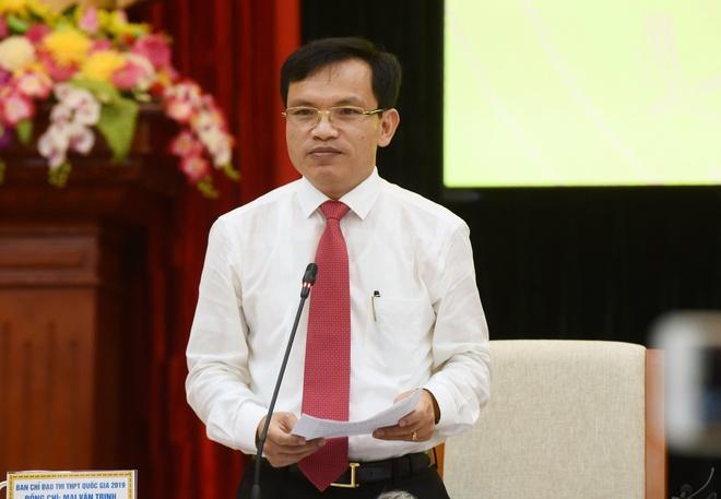 Cục trưởng Mai Văn Trinh cho biết đề thi tốt nghiệp THPT chủ yếu thuộc nội dung kiến thức lớp 12, đã được tinh giản