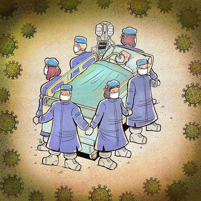 Vòng tay an toàn của các bác sĩ.