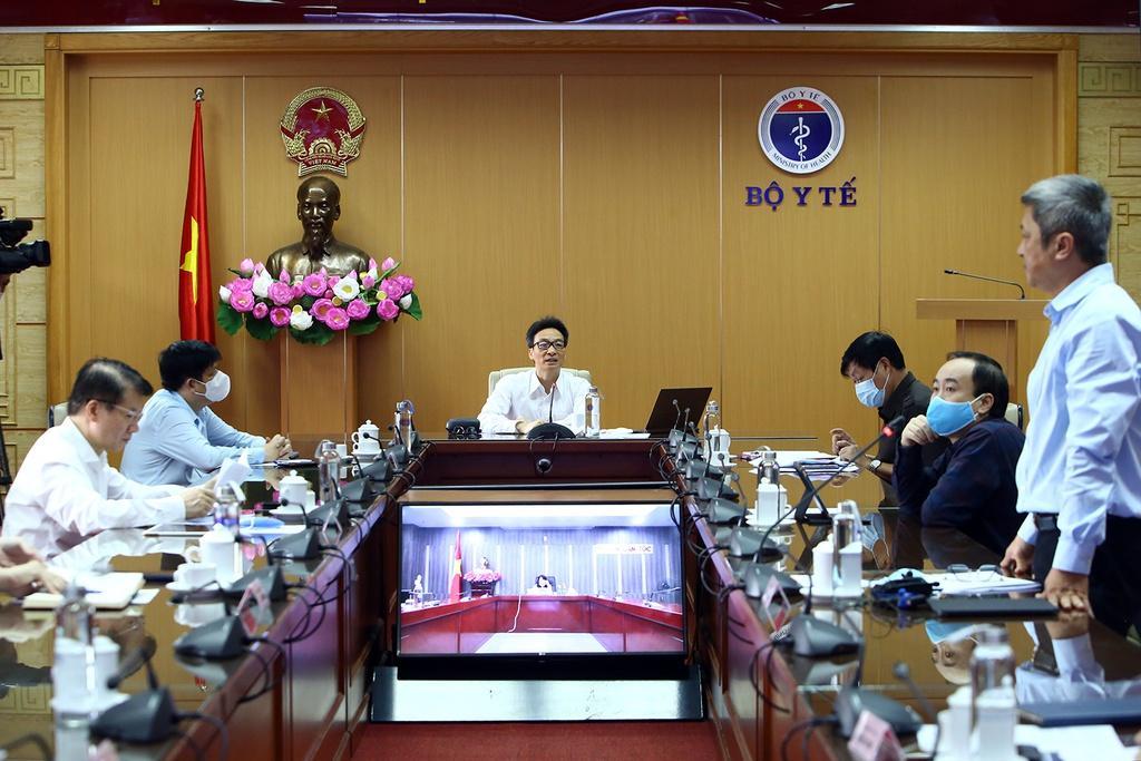 Cuộc họp của Ban chỉ đạo quốc gia về phòng, chống dịch Covid-19 sáng 20/4. Ảnh: VGP.