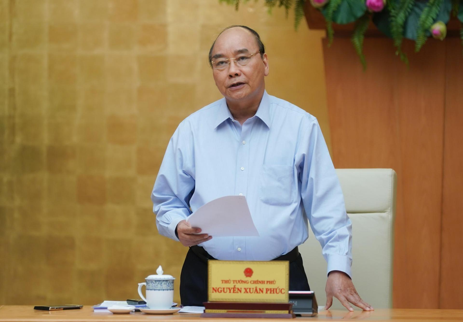 Thủ tướng Nguyễn Xuân Phúc phát biểu. Ảnh: VGP