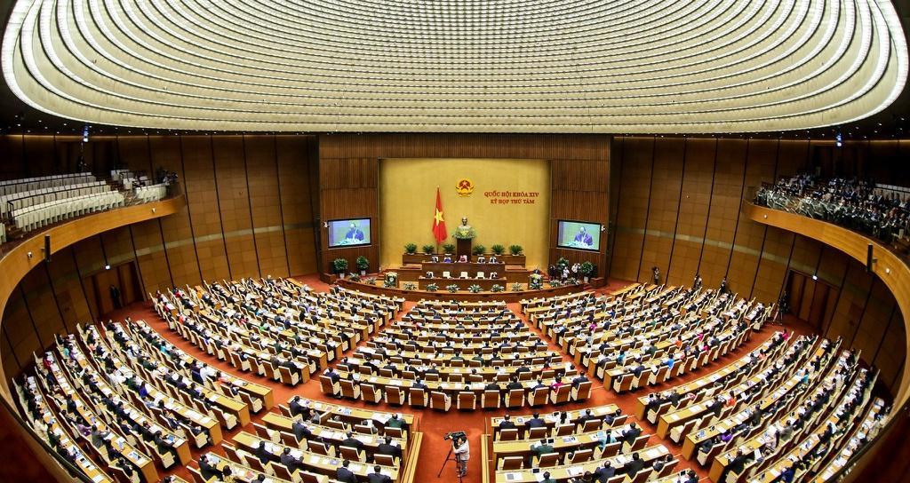 Đại biểu Quốc hội trong một kỳ họp tại Hội trường Diên Hồng.