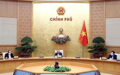 Thủ tướng Nguyễn Xuân Phúc chủ trì cuộc họp Thường trực Chính phủ.