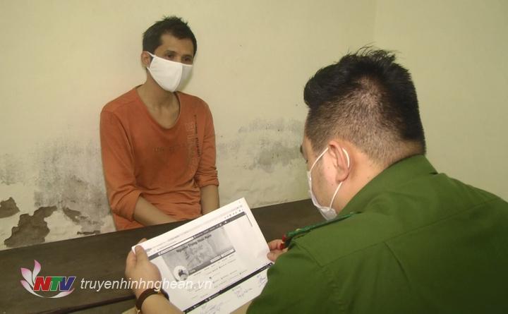Đối tượng Nguyễn Hoài Nam tại cơ quan điều tra.