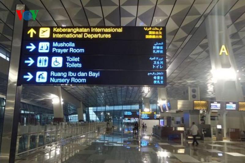 Bên trong sân bay Indonesia.