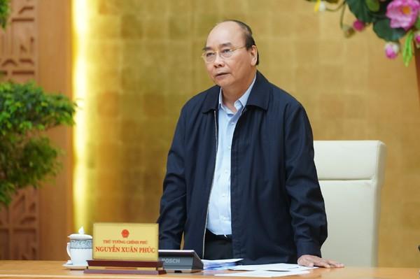 Thủ tướng Nguyễn Xuân Phúc chủ trì cuộc họp với một số bộ, ngành