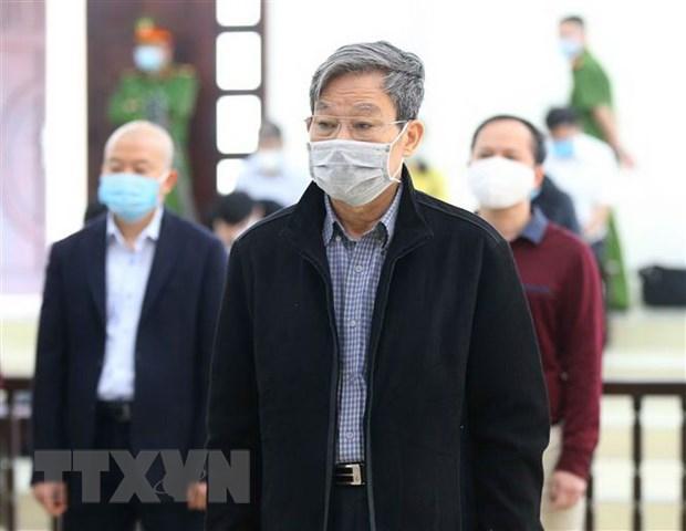 Bị cáo Nguyễn Bắc Son, cựu Bộ trưởng Bộ Thông tin và Truyền thông và các bị cáo nghe Hội đồng xét xử đọc bản tuyên án.