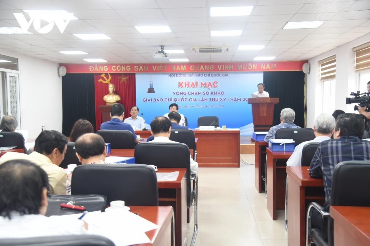 Lễ khai mạc vòng chấm sơ khảo Giải báo chí Quốc gia lần thứ 15.