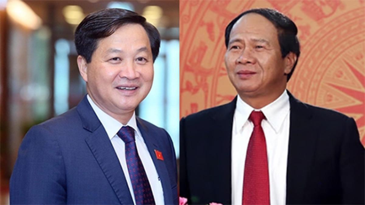 Ông Lê Minh Khái và ông Lê Văn Thành được đề cử để Quốc hội phê chuẩn bổ nhiệm giữ chức Phó Thủ tướng