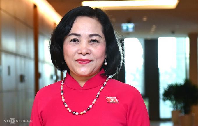 Bà Nguyễn Thị Thanh, Trưởng ban Công tác đại biểu. Ảnh:Giang Huy