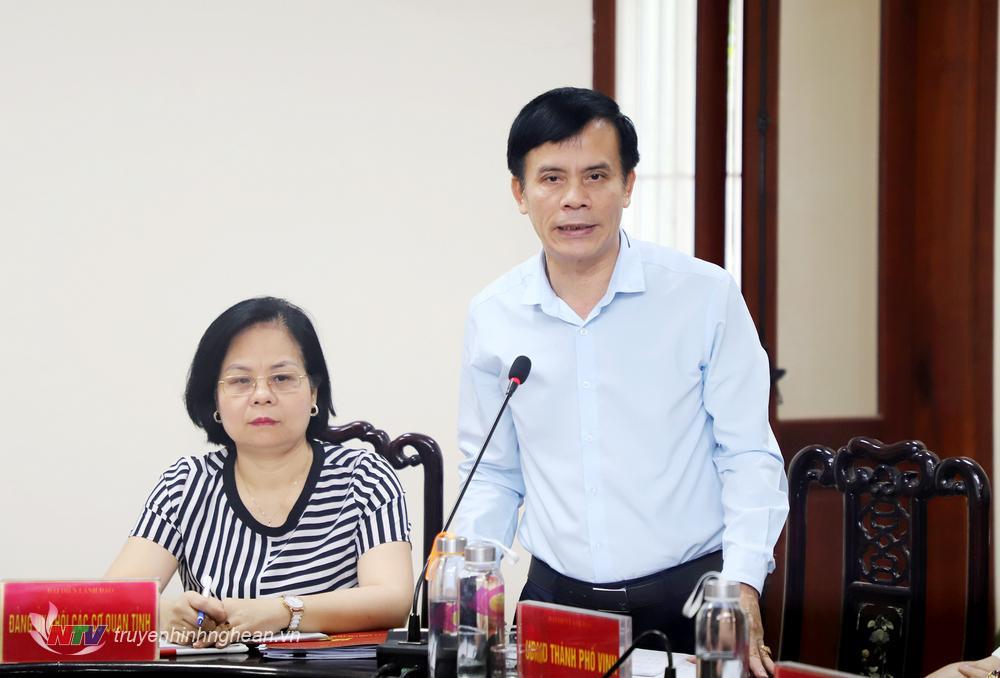 Chủ tịch UBND TP Vinh Hoàng Ngọc Tú giải trình về ý kiến kiến nghị của công dân.