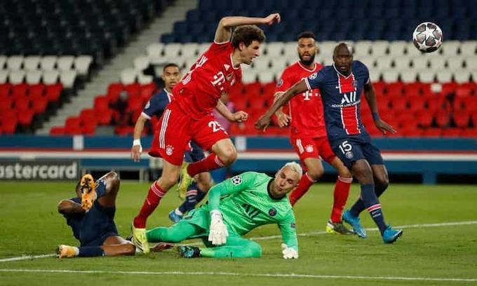 PSG đứng vững trước sức ép từ Bayern trong những phút cuối. Ảnh:Reuters.