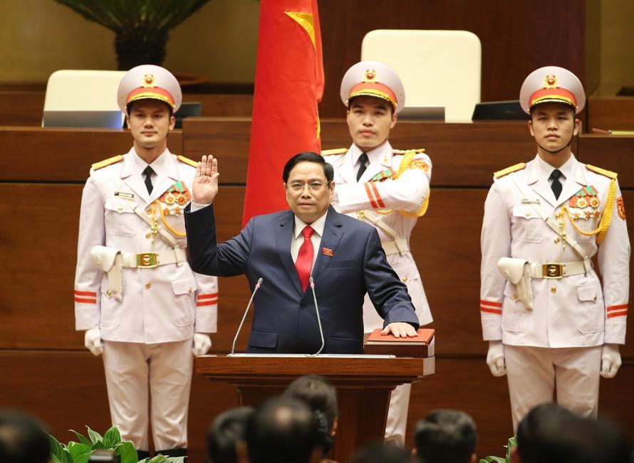 Thủ tướng Phạm Minh Chính tại lễ tuyên thệ nhậm chức