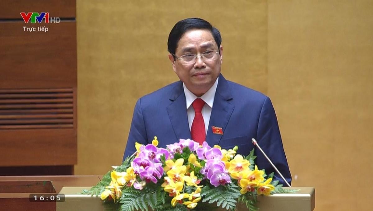 Thủ tướng Phạm Minh Chính phát biểu nhậm chức.