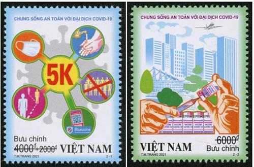 Bộ tem Chung sống an toàn với đại dịch COVID-19.