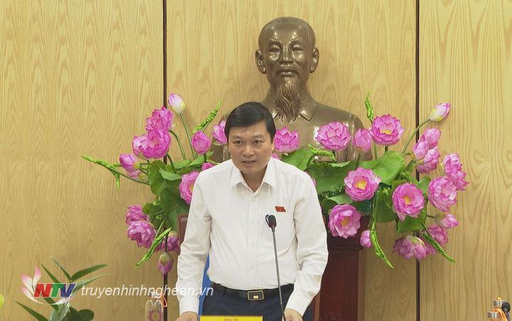 Phó Chủ tịch Thường trực UBND tỉnh phát biểu kết luận buổi làm việc.