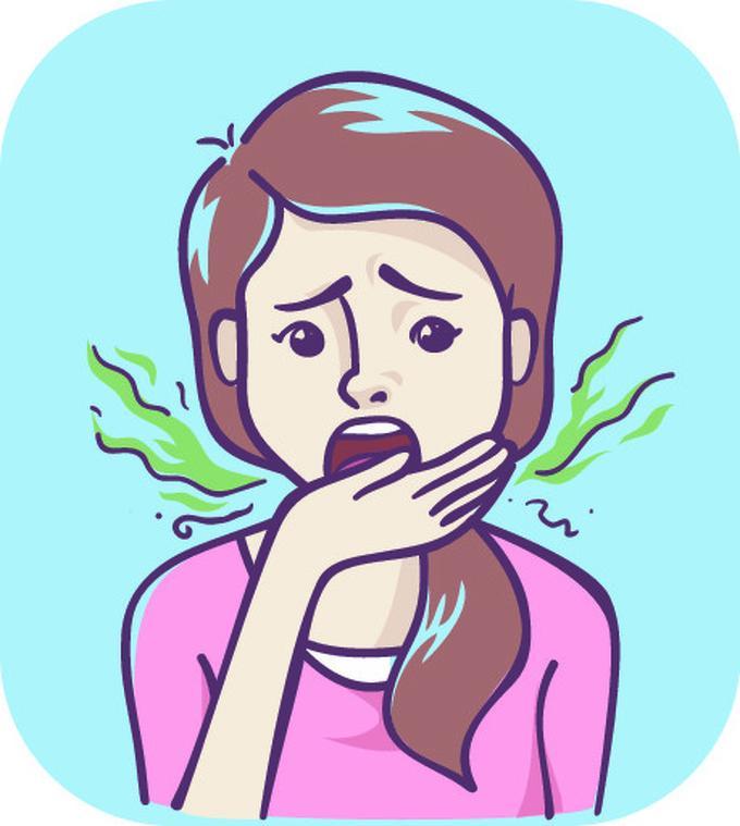 Hơi thở có mùi hôi  Hôi miệng thường là triệu chứng của các vấn đề tiêu hóa. Đây cũng là dấu hiệu khi gan đang làm việc hết mức để thải độc tố tích lũy trong cơ thể.